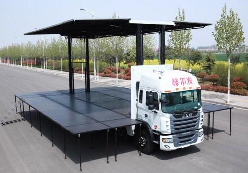 100平米舞台车